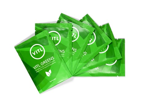 Six sachets of VITL greens superfood sachets